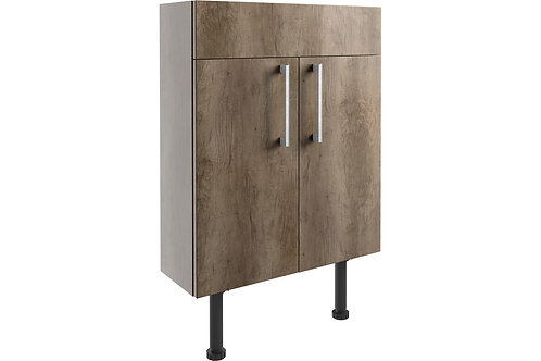 ALBA 600MM SLIM VAN UNIT GREY NEB OAK