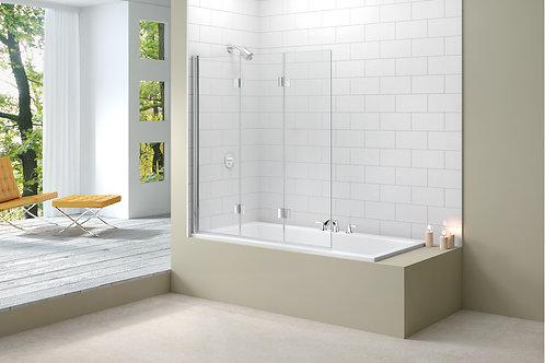 MERLYN VIVID BATH SCREEN 1400MMx1150 3 FOLD HINGE