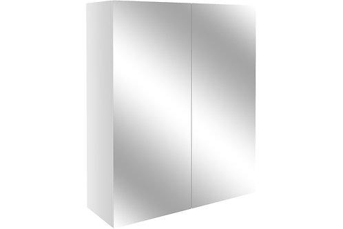 ALBA 600MM MIRR UNIT - WHITE GLOSS