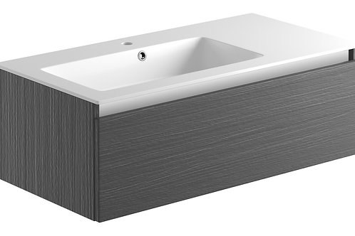 CARINO 900MM 1 DR WH UNIT & BASIN