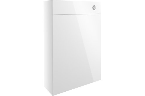 ALBA 600MM SLIM WC UNIT - WHITE GLOSS