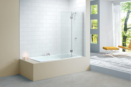MERLYN VIVID BATH SCREEN 900MMx1500MM - RIGHT HAND DOOR SQUARE HINGE 2 PANEL
