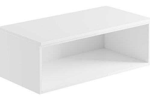 CARINO 900MM WALL MOUNTED OPEN UNIT - WHITE GLOSS