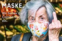 """""""Dedo do meio para quem não usa máscara"""": campanha é suspensa em Berlim"""