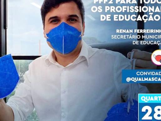 Vereadores pedem esclarecimentos à Secretaria Municipal de Educação sobre fornecimento de máscaras