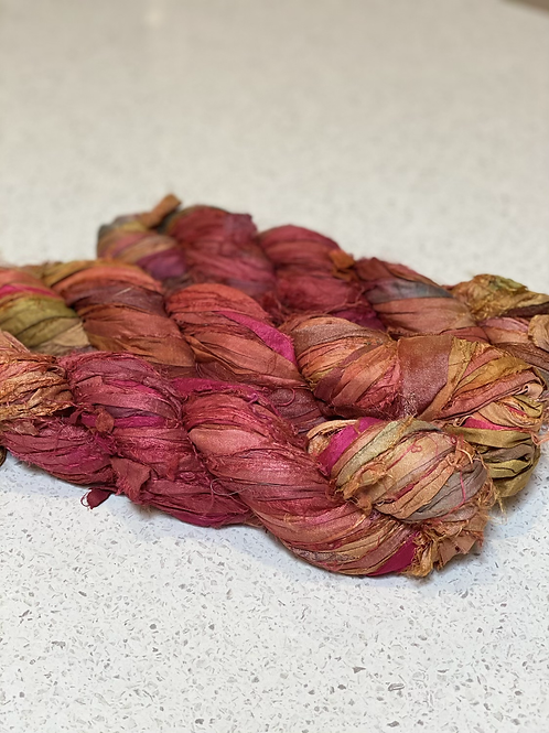 Ochre  | Sari Silk Ribbon
