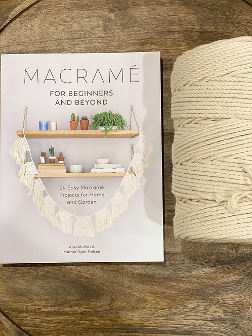 Macrame Book & Cotton Pack