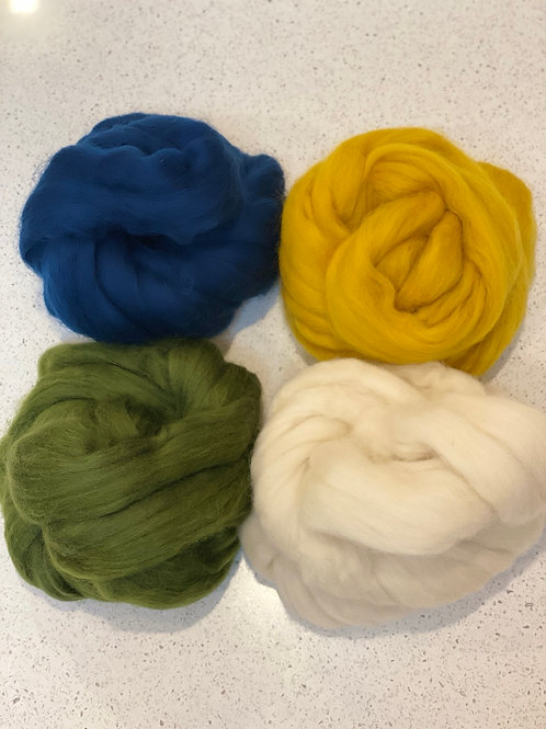 Willow Mixed Roving Bundle | Merino Tops