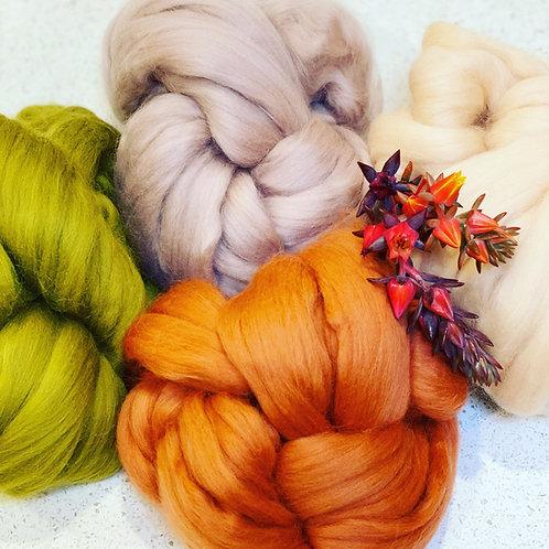 Tuscan roving bundle | wool tops