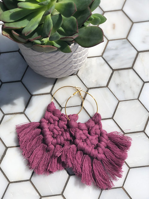 Gold Filled Macrame Boho Earrings | Florence