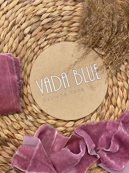Rose Blush | Hand Dyed Silk Velvet Ribbon