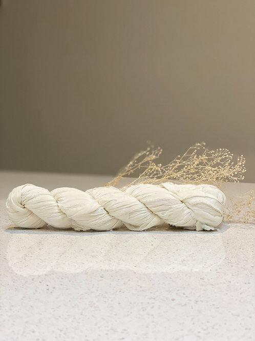 White | Silk Chiffon Ribbon