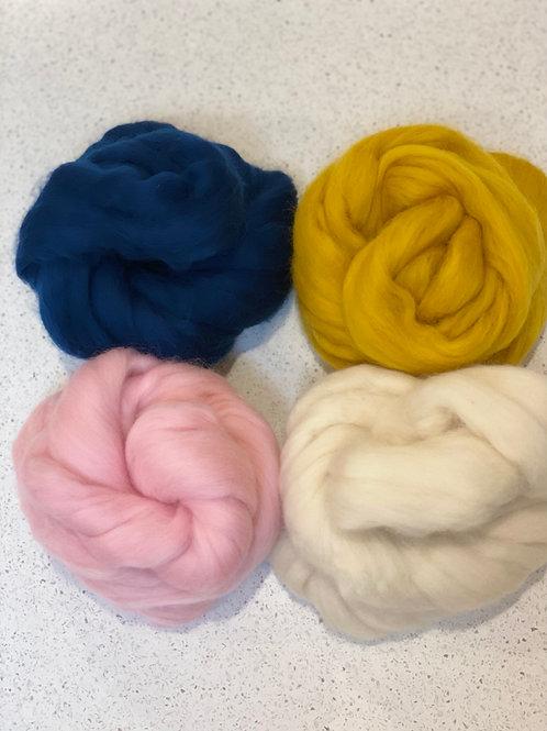 Candy Floss Mixed roving Bundle | Merino Tops