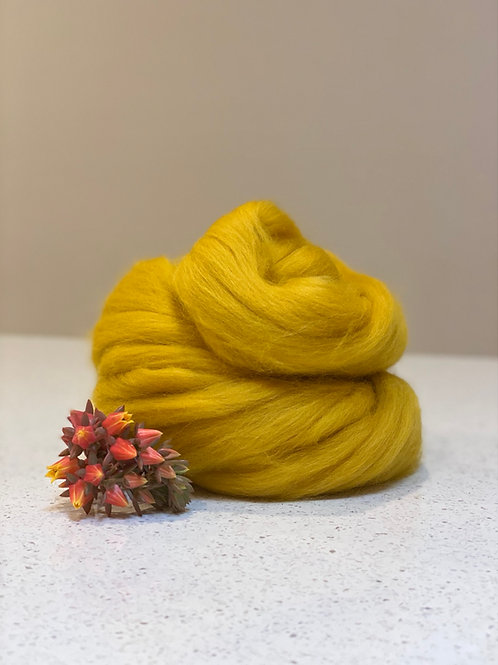 Mustard | Dyed Merino Tops