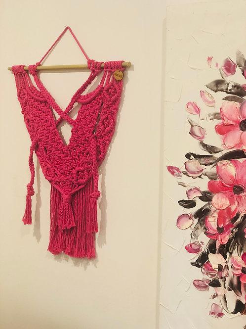 Becca | Pink Macrame Wall Hanging