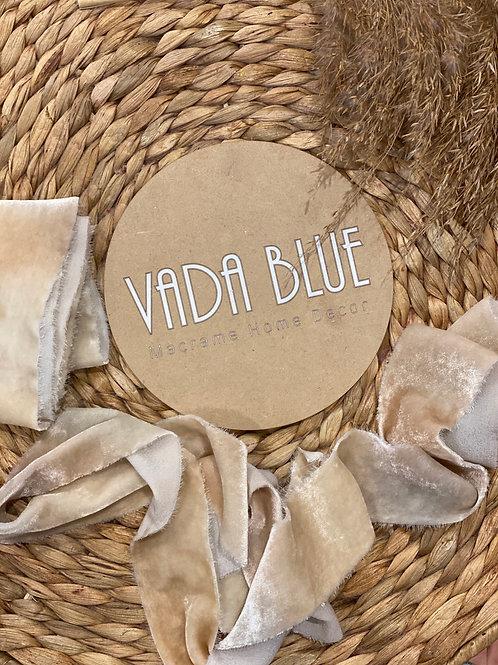 Coswald Stone   Hand Dyed Silk Velvet Ribbon