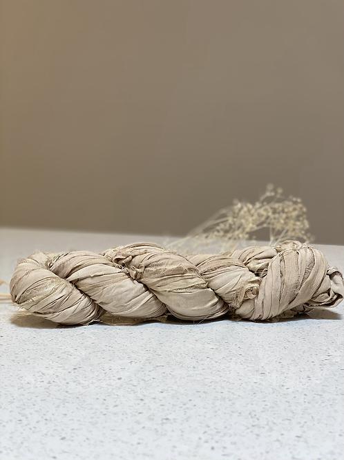 Beige | Silk Chiffon Ribbon