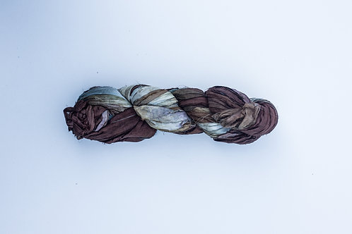 Earth   Sari Silk Ribbon