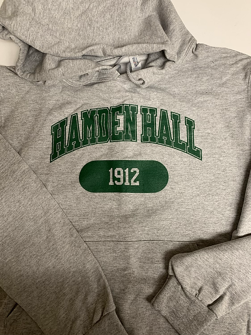 Hamden Hall Grey Hooded Sweatshirt