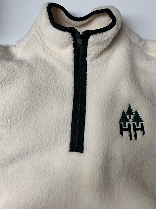 Unisex 1/4 Zip Sherpa With Side Pockets