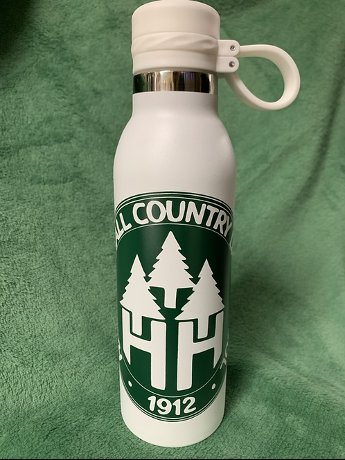 White  20oz Stainless Steel Water Bottle