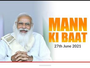 """""""Mann ki Baat"""" Prime Ministers' cheer4india slogan touches athlete's hearts."""