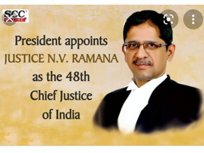 Chief Justice - Mr. N. V. Ramana-Here to bring change and to show the right path to the judiciary.