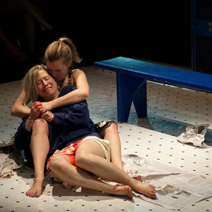 """Amy Macklin in """"Dry Land"""" at The Contemporary American Theatre Festival, 2015"""