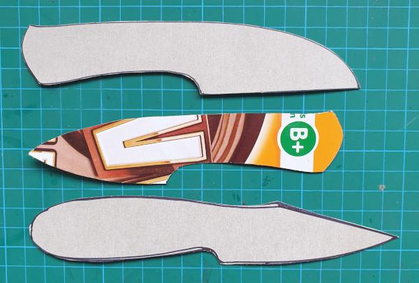 Making cardboard templates