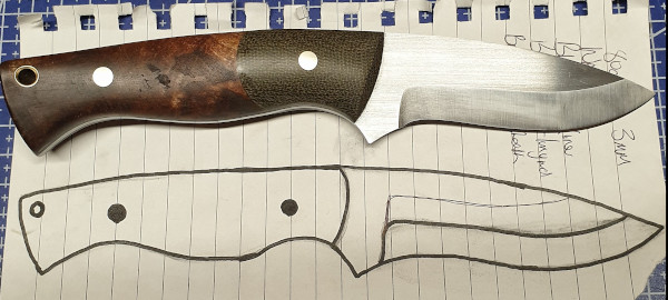 A knife made from a customers drawing