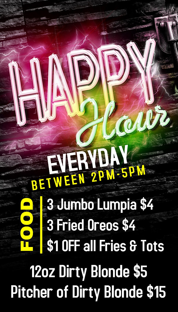 Copy of Happy Hour - Bar Flyer Template.
