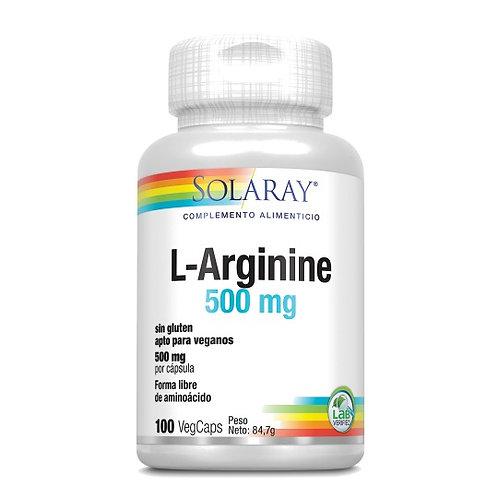 L-Arginine 500 Mg- 100 VegCaps.Sin Gluten. Apto Para Veganos