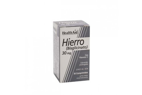 HIERRO BISGLYCINATE iron vit.C 30comp HEALTH AID