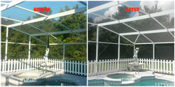 Pool Re-Screen and Pressure Washing