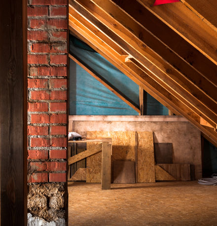 attic renovation and thermal Insulation.