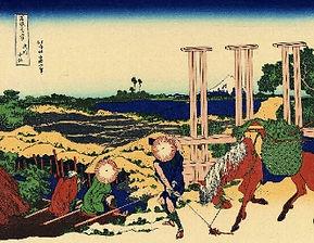 葛飾北斎「富嶽三十六景色・武州千住」