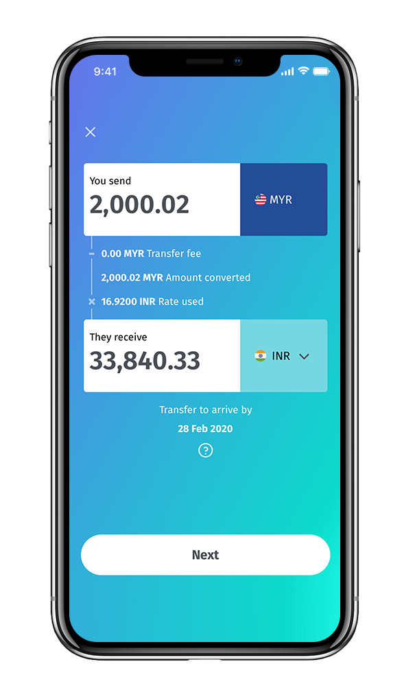 Send money to India with BigPay
