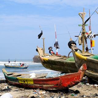 Ghana Flag Boat