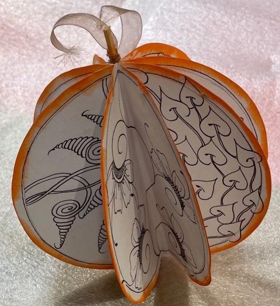 3D Zendala Pumpkins