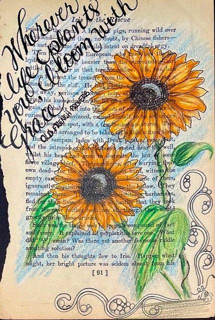 Bookpage Sunflowers