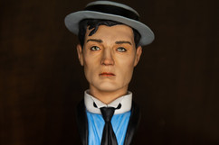 Buster Keaton bust - painted 4