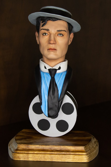 Buster Keaton bust - painted 1