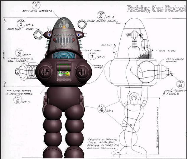 Robby and original blueprints 1