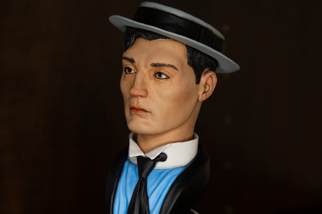 Buster Keaton bust - painted 3