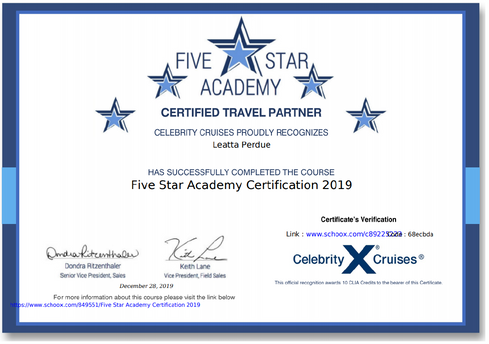 Celebrity Cruises Certifided
