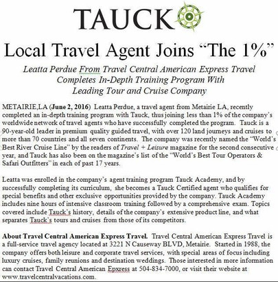 Tauck Agent Trained