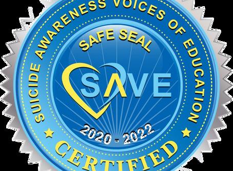 Tasha Schuh Receives Prestigious SAVE Certification on Mental Health Curriculum
