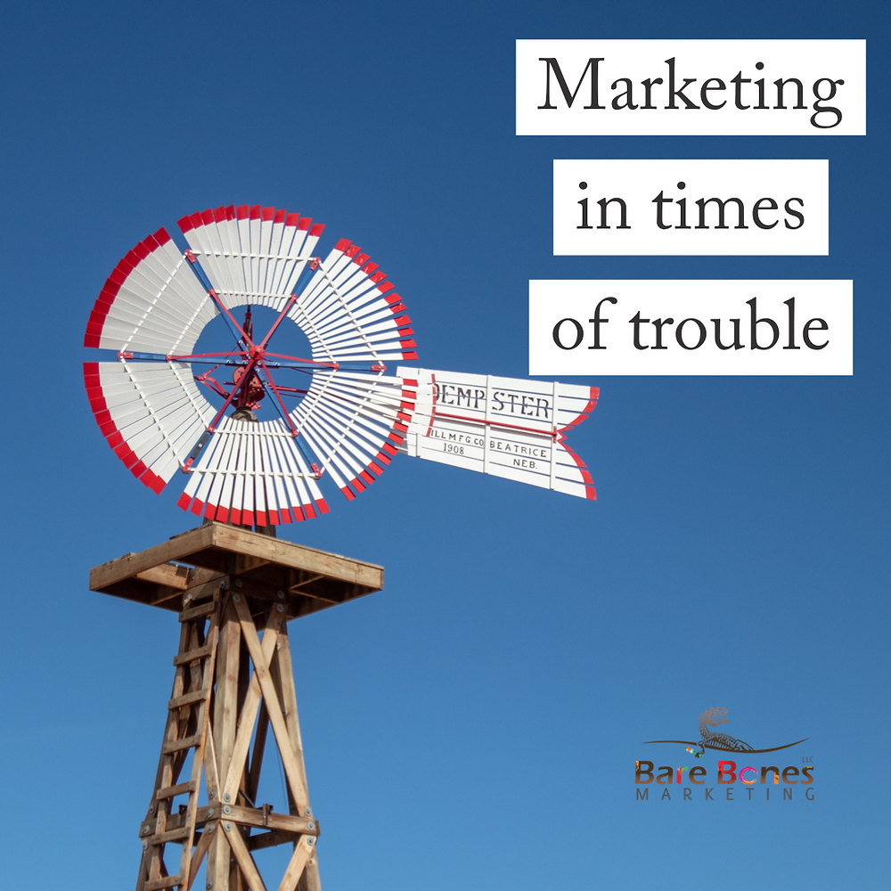 Marketing in times of trouble