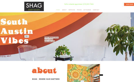 Shag Salon A funky website to match the retro vibe of our fav...
