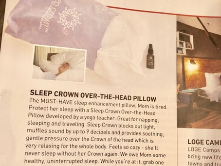 Sleep Crown selected for the Mother's Day Gift Guide in American Way Magazine